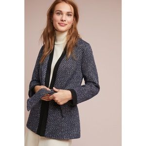 ANTHROPOLOGIE Harlyn Roe Belted Tweed Jacket
